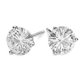 Round Moissanite Martini Stud Earrings - 1.00tcw - 5.50tcw