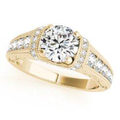 Round Moissanite Milgraine Engagement Ring - 2.15tcw