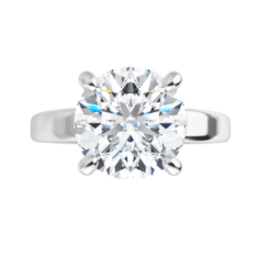 Round Moissanite Side Stones Engagement Ring - 2.65tcw - 7.08tcw