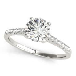 Round Moissanite Side Stones Engagement Ring - 1.10tcw - 2.90tcw