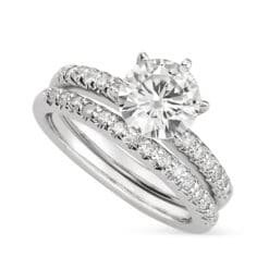 Round Moissanite Solitaire Engagement Ring - 1.20tcw - 6.33tcw