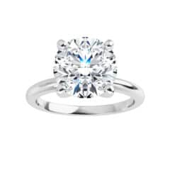 Round Moissanite Solitaire Ring - 1.00tcw - 6.13tcw