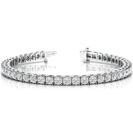 Round Moissanite Tennis Bracelet - 3.00tcw - 25.00tcw