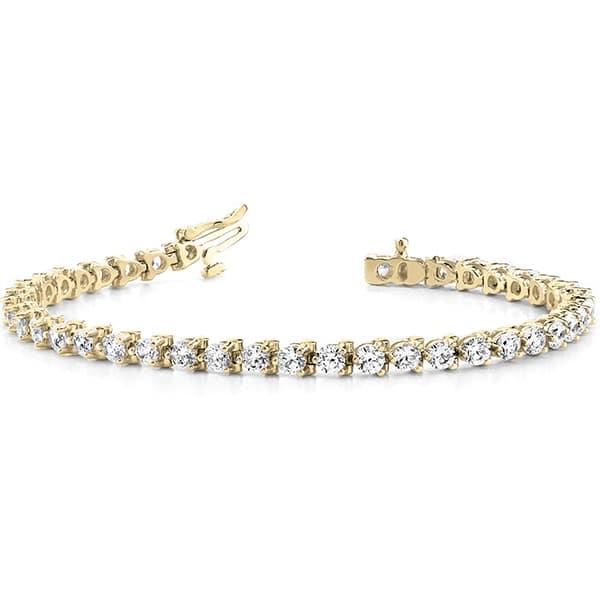 Round Moissanite Tennis Bracelet - 4.30tcw