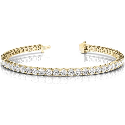 Round Moissanite Tennis Bracelet - 3.78tcw -10.12tcw