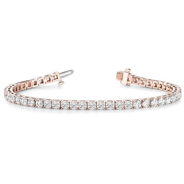 Round Moissanite Tennis Bracelet - 3.90tcw - 9.43tcw