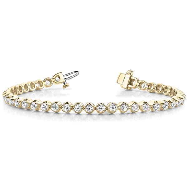Round Moissanite Tennis Bracelet - 4.10tcw - 7.59tcw