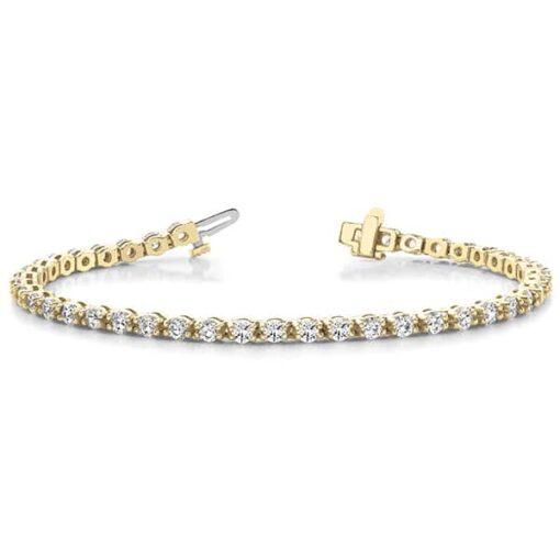 Round Moissanite Tennis Bracelet - 3.00tcw - 5.45tcw