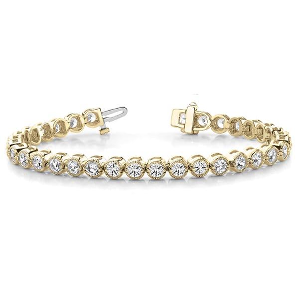 Round Moissanite Tennis Bracelet - 3.12tcw - 5.76tcw