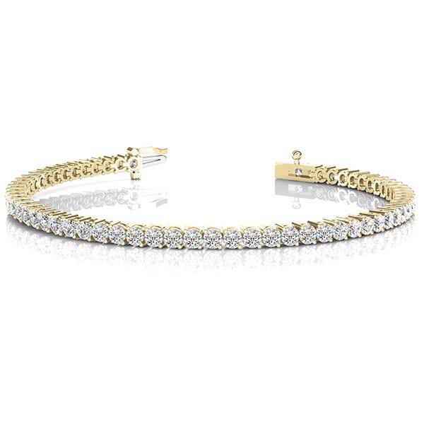 Round Moissanite Tennis Bracelet - 4.00tcw