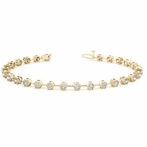 Round Moissanite Tennis Bracelet - 2.80tcw