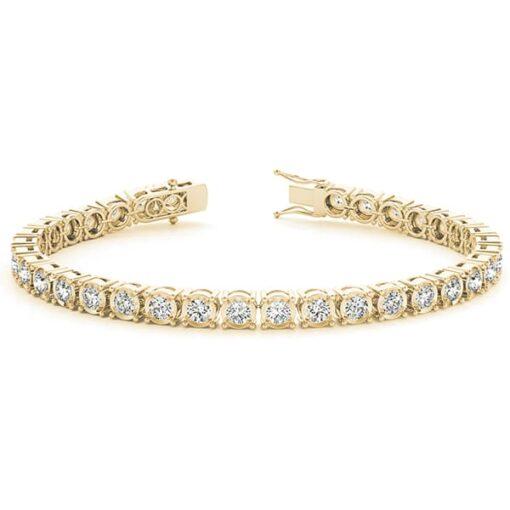 Round Moissanite Tennis Bracelet - 1.32tcw - 5.29tcw