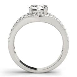 Round Moissanite Tri Band Engagement Ring - 2.75tcw