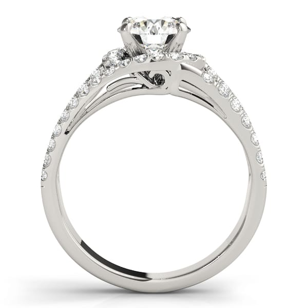Round Moissanite Tri Band Engagement Ring - 2.30tcw