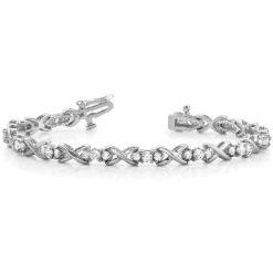 Round Moissanite XoX Tennis Bracelet - 2.50tcw