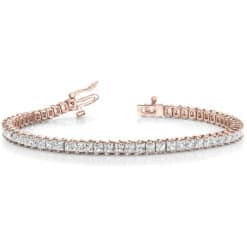 Square Moissanite Tennis Bracelet - 6.75tcw - 9.00tcw