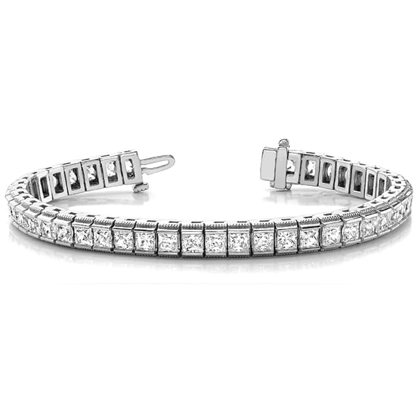 Square Moissanite Tennis Bracelet - 5.50tcw - 16.50tcw