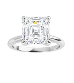 test rajout matching Asscher Moissanite Solitaire Ring - 0.95tcw - 2.88tcw