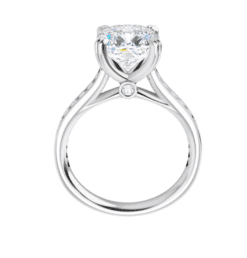 Cushion Moissanite Channel Band Bezel Engagement Ring - 2.15tcw - 5.45tcw