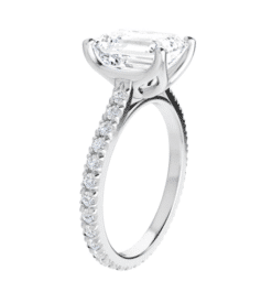 Emerald Moissanite  Solitaire Engagement Ring - 2.60tcw - 5.80tcw
