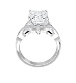 Emerald Moissanite Twisted Band Engagement Ring - 2.30tcw - 5.50tcw