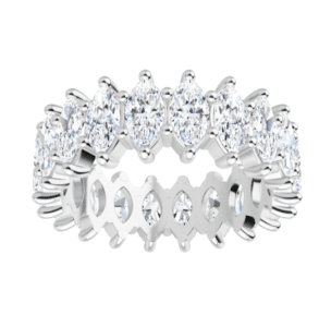 Marquise Moissanite Eternity Wedding Band Ring - 2.03tcw - 4.60tcw