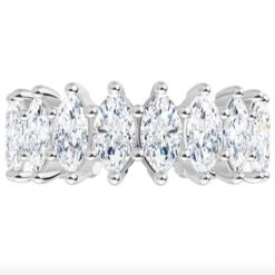 Marquise Moissanite Eternity Wedding Band Ring - 2.03tcw - 4.60tcw