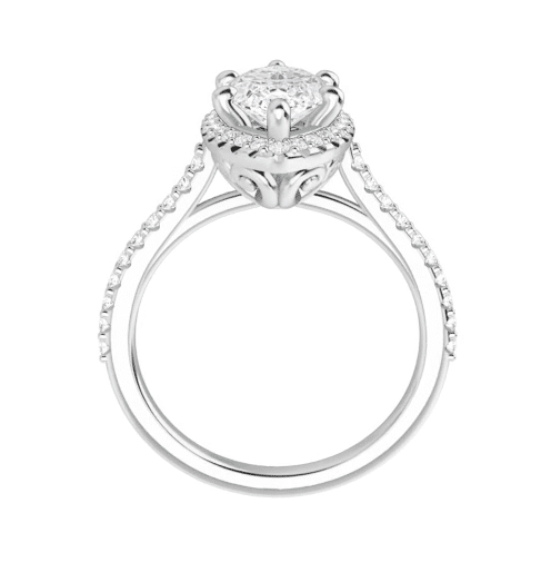 Marquise Moissanite Halo Engagement Ring - 1.50tcw - 2.30tcw