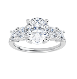 Oval Moissanite  5 Stone Engagement Ring - 2.50tcw - 5.20tcw