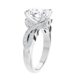 Oval Moissanite Twisted Band Engagement Ring - 2.05tcw - 4.75tcw