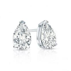 Pear Moissanite Stud Earrings - 0.86tcw - 7.14tcw
