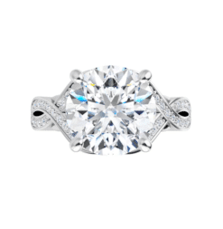 Round Moissanite Twisted Band Engagement Ring - 2.45tcw - 6.88tcw