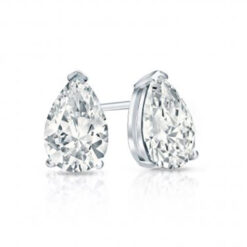 Pear Moissanite Forever One Stud Earrings
