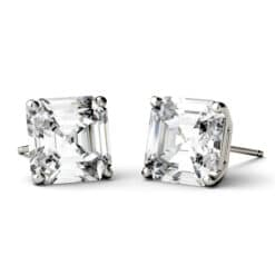 Asscher Moissanite Stud Earrings - 1.20tcw - 6.28tcw
