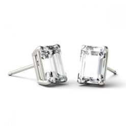 Emerald Moissanite Stud Earrings - 1.20tcw - 5.00tcw