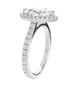 Marquise Moissanite  Halo Engagement Ring - 2.00tcw