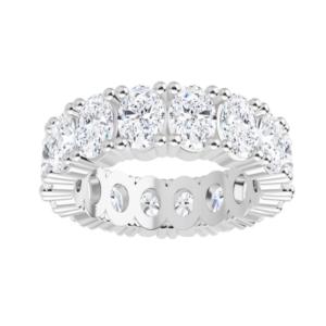 Oval Moissanite Eternity Wedding Band Ring - 5.20tcw - 8.00tcw