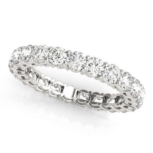 Round Moissanite Common Prong Eternity Wedding Band Ring - 1.30tcw - 14.00tcw