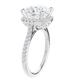 Cushion Moissanite Halo Engagement Ring - 2.20tcw - 5.50tcw