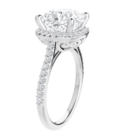 Cushion Moissanite Halo Engagement Ring - 2.20tcw - 5.50tcw