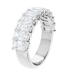 Emerald Moissanite Anniversary Wedding Band Ring - 2.97tcw - 5.22tcw