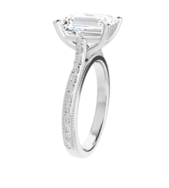Emerald Moissanite Solitaire Ring - 1.75tcw - 3.55tcw