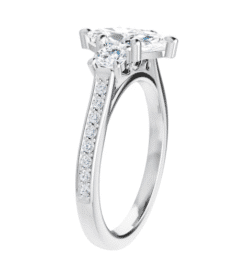 Marquise Moissanite 3 Stone Ring - 1.50tcw