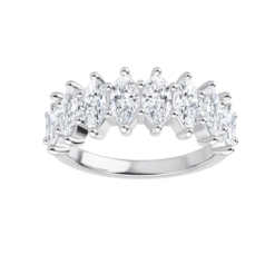 Marquise Moissanite Anniversary Wedding Band Ring - 2.00tcw