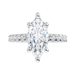 Marquise Moissanite Halo Engagement Ring - 2.00tcw - 2.80tcw