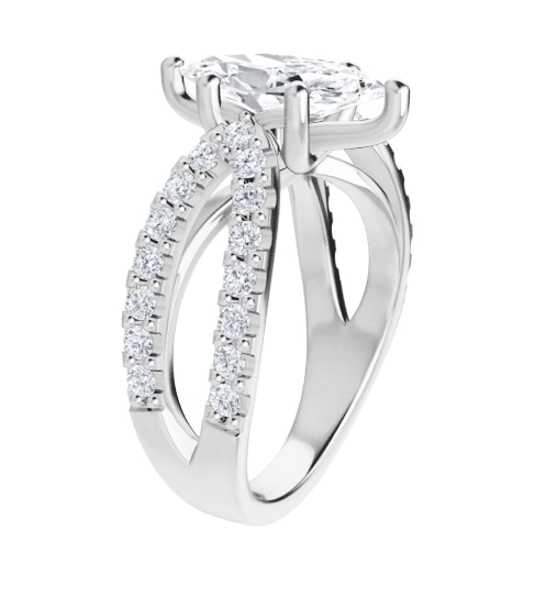 Marquise Moissanite Split Band Engagement Ring -1.50tcw - 2.30tcw