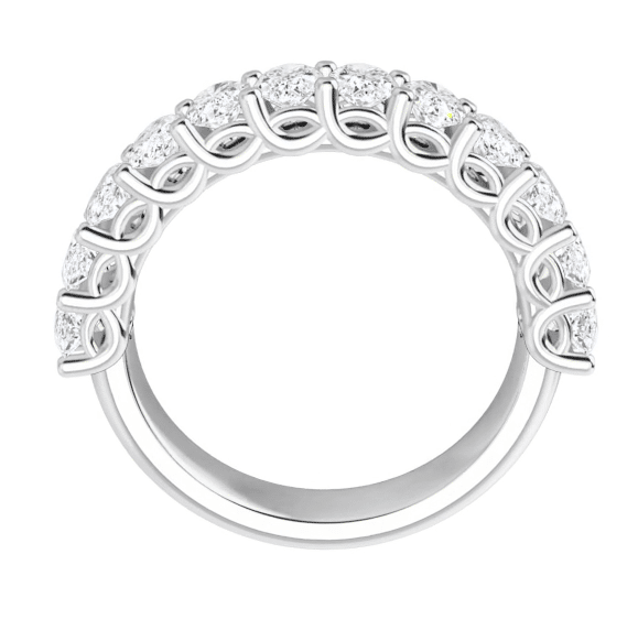 Oval Moissanite Anniversary Wedding Band Ring - 3.12tcw