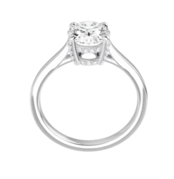Oval Moissanite Hidden Halo Engagement Ring - 1.70tcw - 4.40tcw