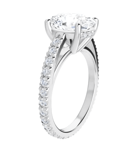 Oval Moissanite Hidden Halo Engagement Ring - 2.50tcw - 5.20tcw