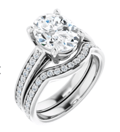 Oval Moissanite Solitaire Engagement Ring - 1.75tcw - 4.45tcw